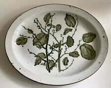 Midwinter Stonehenge Green Leaves Oval Stake Or Serving Plate, New