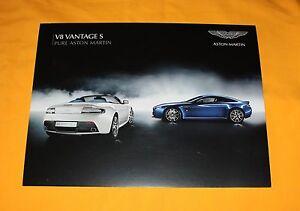 Aston Martin V8 Vantage S 2011 USA Prospekt Brochure Catalog Depliant Prospetto
