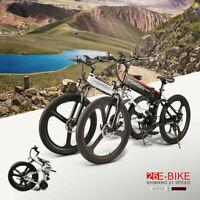 SAMEBIKE 26Inch Folding Electric Bike Bicycle E-Bike 48V 350W 10AH 21 Speed
