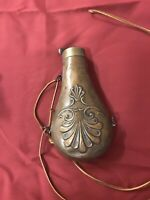 Antique Brass Black Powder Flask