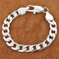 Fashion Jewelry Silver Color  8mm Chain Men Bracelet Bangle Sexy w/