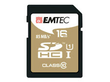 Sdhc 16go EMTEC Cl10 Gold Uhs-i 85mb/s - sous blister