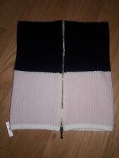 Kate Spade Zip Up Neckwarmer Knit Scarf  Light Pink Swirl Black White