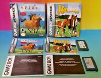 Horsez + Spirit Stallion of Cimarron - Game Boy Advance Complete Nintendo GBA