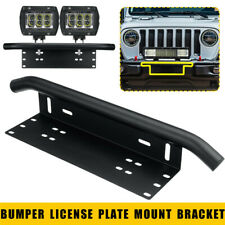 Bull Bar Car Front Bumper License Plate Mount Bracket Holder Offroad Universal