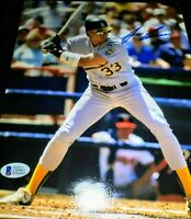 Jose Canseco Oakland Athletics A's SIGNED Autographed 8x10 Photo (Beckett COA)