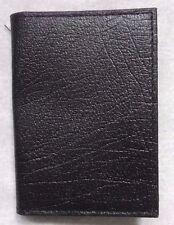 Wallet Vintage Leather BLACK CARD HOLDER ID  1970s 1980s RETRO