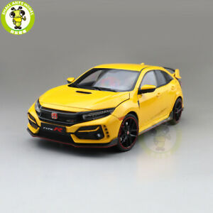 1/18 LCD Honda Civic Type R FK8 2020 Diecast Model Toys Car Boys Gifts Yellow