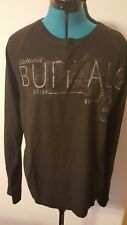 NWT Buffulo David Bitton shirt black large mens long sleeve