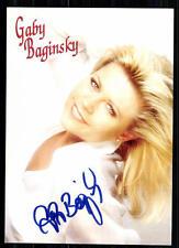 Gaby Baginski Autogrammkarte Original Signiert ## BC 19313