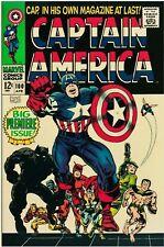 Captain America 100 Facsimile Reprint Cover Only Ads Key 1st SA Solo Cap!!