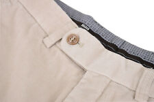 Hiltl NWT Carlo Bonomi Fabric FF Corduroy Pants Sz 33 Unhemmed in Cream