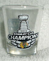 Chicago Blackhawks 2013 NHL STANLEY CUP champs Champions SHOT GLASS