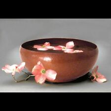 New Hand Hammered Camellia Copper Bowl - Free Shipping