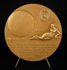Médaille Maurice Scève poète Lyonnais à la gloire du corps féminin nu de femme