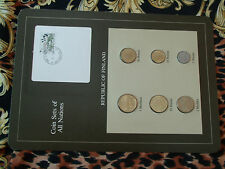 Coin Sets of All Nations Finland w/card 1982 - 1984 UNC bird stamp