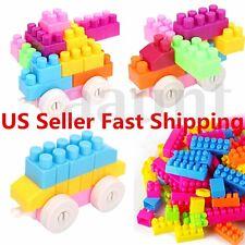 80Pcs Children Kid Plastic Puzzle Educational Building Blocks Bricks Toy Gift