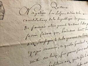 1805 NAPOLEON RELATED MANUSCRIPT