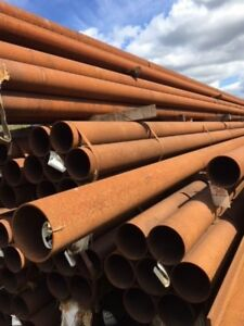 14.550 Mtrs Lengths of 193.7 mm x  6.3 mm  Unused Stock Rusty Steel Tube - Chs -