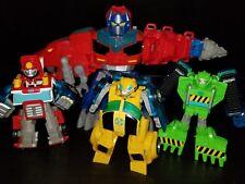 Transformers Rescue Bots Heroes Lot Optimus Dinobot Bumblebee Heatwave Boulder