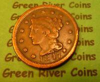 1847  U S Braided Hair Large  Cent   #47-2        (1839-1857)