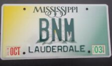 "MISS VANITY LICENSE PLATE "" BNM"" BOB BILL BETTY BEV BRIAN MILLER MARSHALL MARTIN"