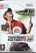 TIGER WOODS PGA TOUR 10 NINTENDO WII NUOVO, EDIZIONE UFFICIALE ITALIANA