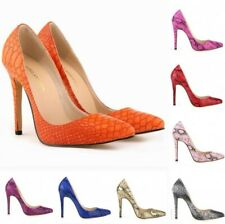 Stylish Pump Womens Pointed Toe Animal Print Pumps Party Stilettos Shoes 34-42