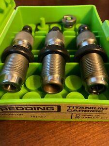 REDDING 38 SPECIAL / 357 MAGNUM TITANIUM CARBIDE 3-DIE COMPLETE SET88282