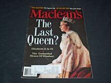 1996 APRIL 22 MACLEAN'S MAGAZINE - QUEEN ELIZABETH II - SP 6207