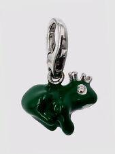 Gooix Charm 925 Silber GXC172 Froschkönig mit Emaileinlage *NEU*