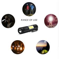 XPE Q5 + COB LED linterna 14500 / AA 4 Clip de bolsillo Mini luz antorcha