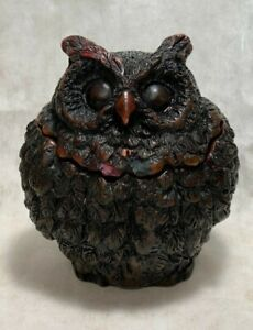 Owl Decor Small piece in Box Resin Storage Container statue figure Home Nice