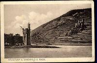 Bingen am Rhein alte Postkarte ~1920/30 Mäuseturm Wachturm Rhein Ehrenfels
