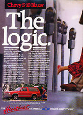 1989 Chevrolet S-10 Blazer Chevy - Classic Vintage Advertisement Ad A87-B