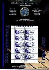 Numisblatt 1 / 2011 200 Geburtstag Franz Liszt mit 10 Euro Münze Silber KI2467