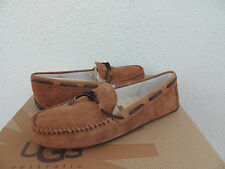 UGG TIE BOW CHESTNUT SUEDE/ SHEEPSKIN DRIVING MOCCASIN LOAFERS, US 10/ 41 ~