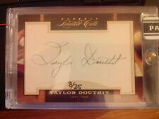 2011 Donruss Limited Cuts Baseball #306 Taylor Douthit #d 8/25 Auto Autograph