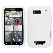 White Rubber Silicone SKIN Case for Motorola Defy MB525