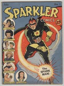 Sparkler #1 July 1941 G/VG Sparkman, Tarzan