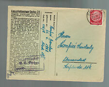 1941 Germany Dachau Concentration Camp KZ Cover w letter Bronislaus Lamfries
