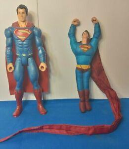 SUPERMAN LOT OF 2 ACTION FIGURES 2005 LONG CAPE AND 2015 PLASTIC FIGURE