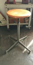 Vintage 50'S Stool Industrial, Foot Four Branches, Height Adjustable