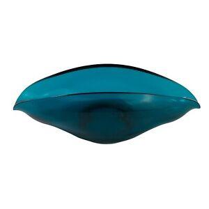 Vintage Mid Century Teal Turquoise Studio Art Glass Bowl