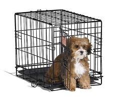 """Small Dog Crate Cage Pet Single Door Training Iron Wire Travel Cat Puppy 18"""" NEW"""