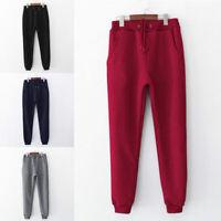 Women Warm Winter Thicken Fleece Lined Pants Thermal Long Trousers Sweatpants
