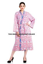 Floral 100% Cotton Summer Bath Robe / Dressing Gown Indian Kimono Dress Bohemian