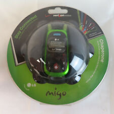LG Migo NOS VX1000L Verizon 5 Button Kids Elderly Cell Phone NIP Small Green
