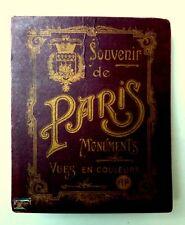 SOUVENIR DE PARIS  MONUMENTS  VUES EN COULEURS  Ed . A.P.