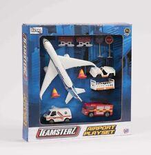 Enfants Garçons Filles Airport Playset avion modèle jeu TEAMSTERZ Avion Toy DIE CAST